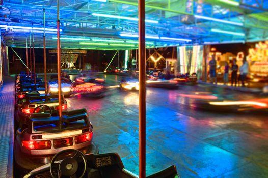 Bumper Cars at Night