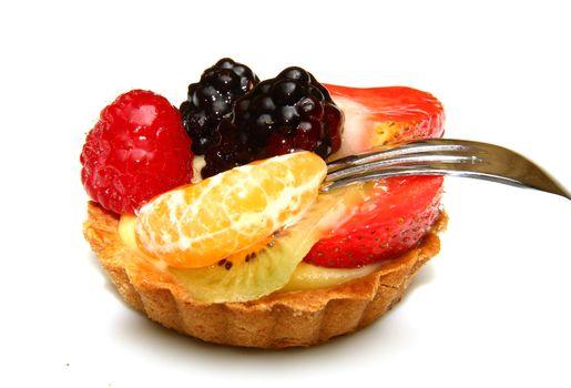 fruit pastry isolated on white background