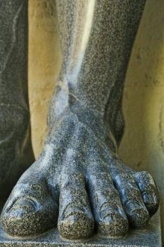 Leg of Granite Sculpture of Greek Mythology Atlase Guarding the Hermitage Museum (St. Petersburg, Russia)