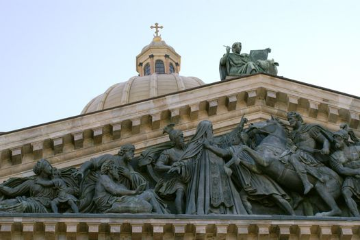 The roof of St. Isaac's Cathedral in Saint Petersburg.