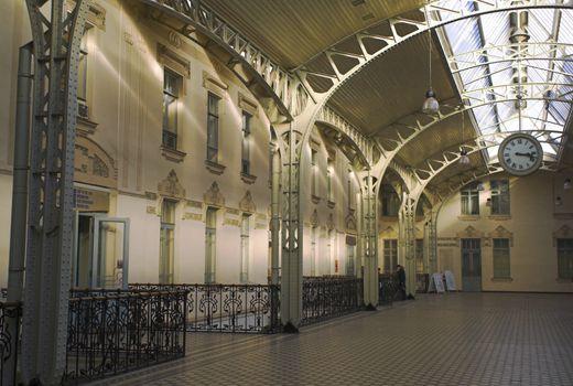 The Vitebsk Railroad Station's hall in Saint Petersburg.
