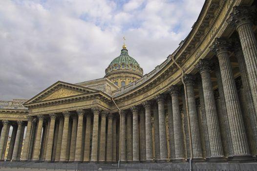 Kazansky Cathedral in Saint Petersburg, Russia.