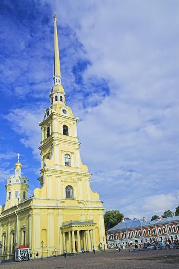 Peter and Paul's Orthodox Cathedral in Saint Petersburg, Russia