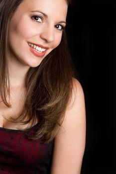 Beautiful smiling girl closeup portrait