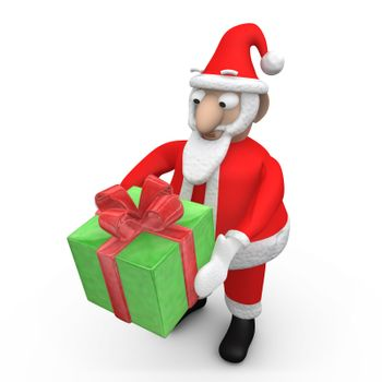 Santa Offering A Gift.