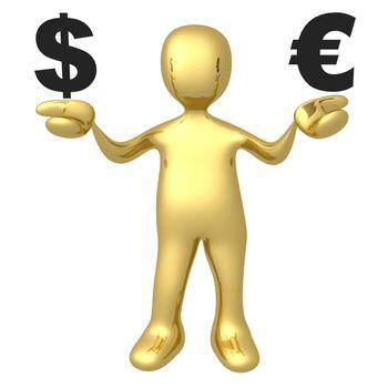Computer Generated Image - Dollar vs Euro .