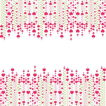 Valentine's  background with pink heart. vector illustration