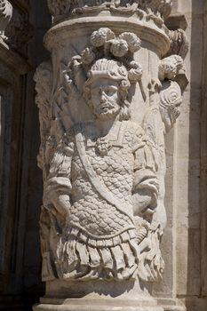 column carved