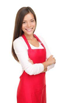 Barista woman / small shop owner portrait