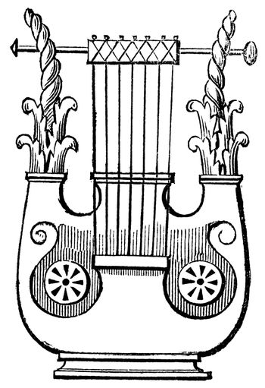 Heptacorde vintage engraving