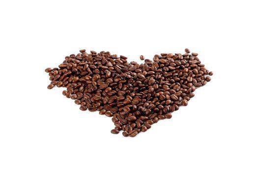 coffee beans heart