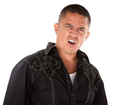 Angry Hispanic Man