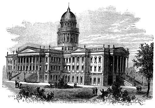 Topeka, Capitol of the state of kansas or Kansas Statehouse, vin