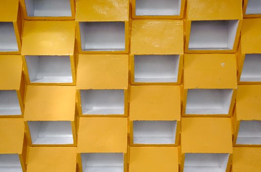 Yellow grid background