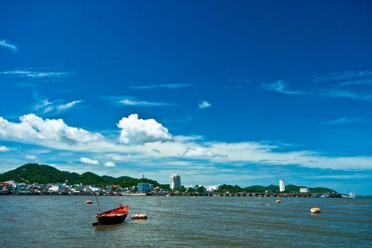 View of Siracha City, at Chonburi Thailand