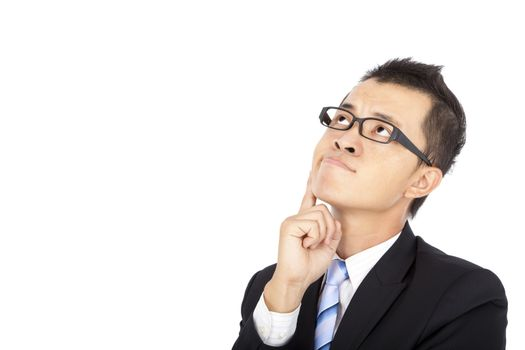 businessman with thinking