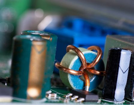 Macro view of electronic cicuit board