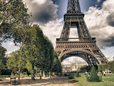 Eiffel Tower from Park du Champ de Mars, Paris