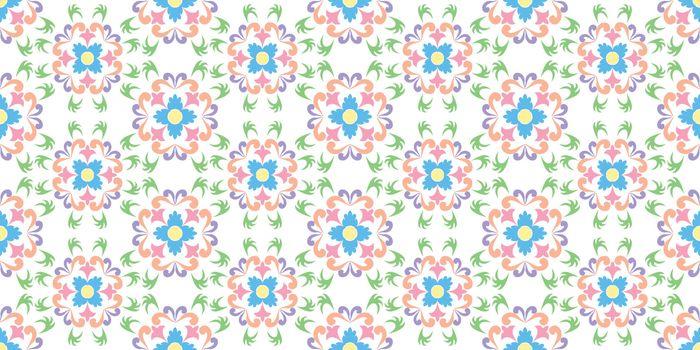 floral seamless texture, vector art illustration