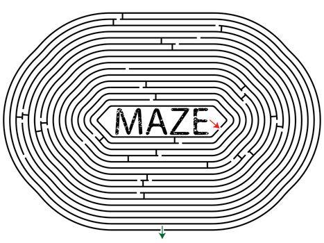 rounded maze