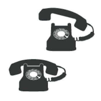 telephone icons against white