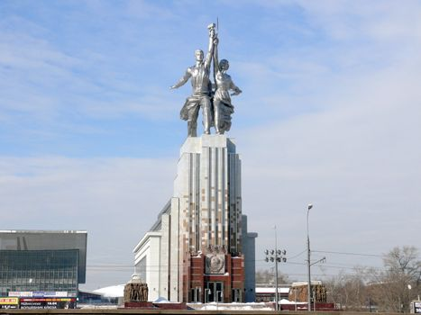 Monument Worker and Kolkhoz Woman in VVC. Moscow. Russia