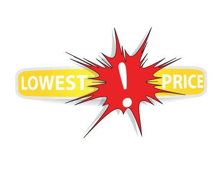 Lowest Price Sticker. Vector.