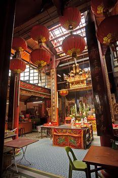 Chinese Buddhism temple interior