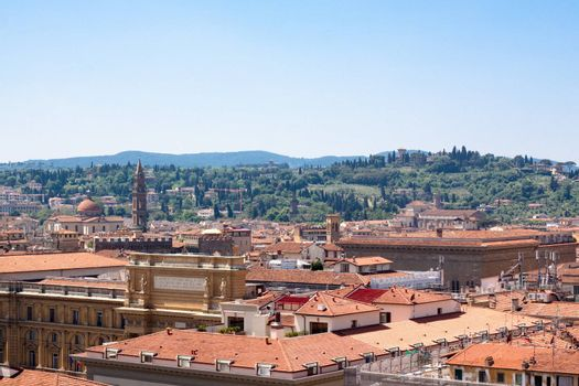 A Florence view from the cathedral bell-tower