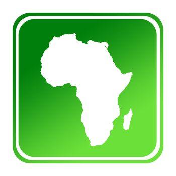 Afrtican continent green map button