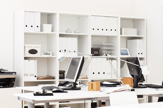view on an office working place with various business accessories