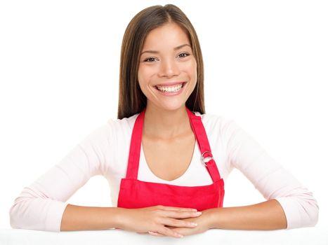 apron woman sales assistant clerk
