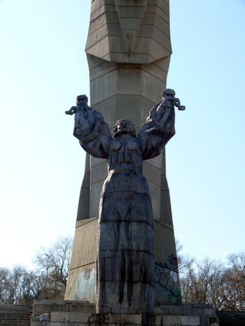 Monument of a Mother Bulgaria in skobelev Park. Pleven, Bulgaria