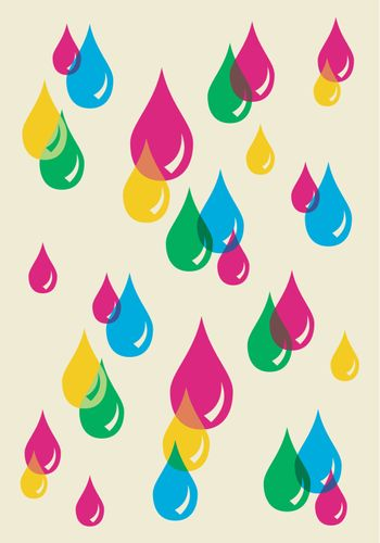 Colorful drops transparency pattern