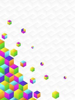 Multicolor cubes background