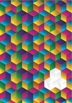 Multicolor cube background