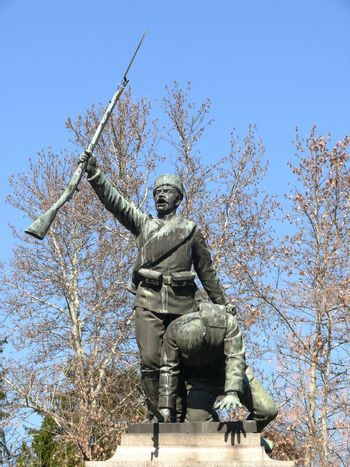 Monument for Serbian-Bulgarian war in center of Pleven, Bulgaria