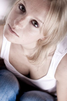 attractive sad woman