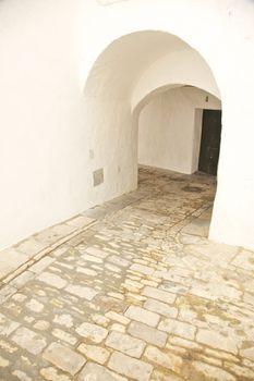 arch corridor at Vejer village