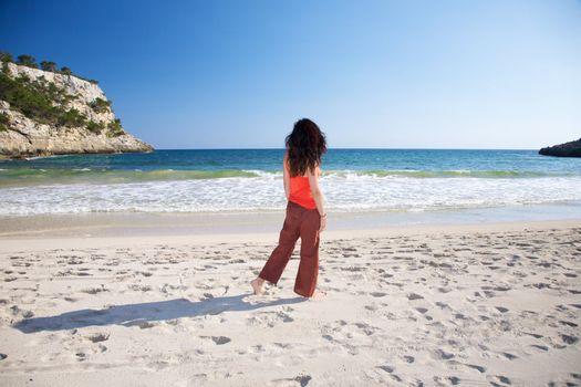 walking watching Mediterranean sea