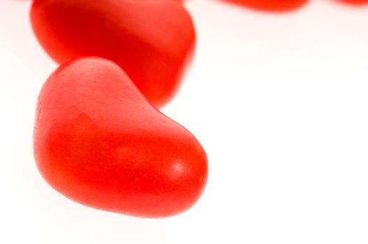 Sweets in the form of hearts