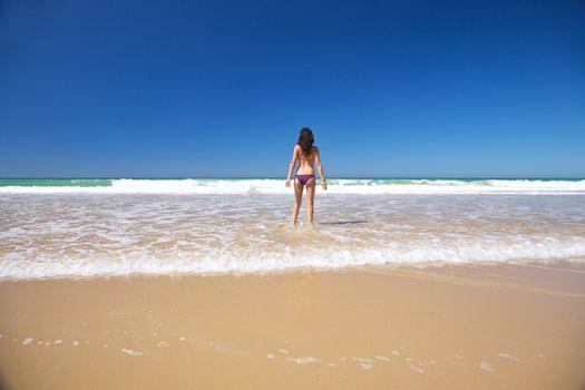 bikini woman at seashore