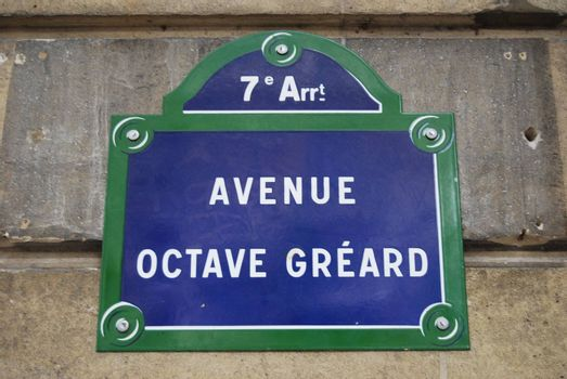 Avenue Octave Gréard in the 7th arr of central Paris. Elegant, exlusive, special
