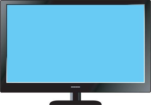 Illustration of Led Television set on white background