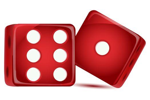 illustration of dice on white background