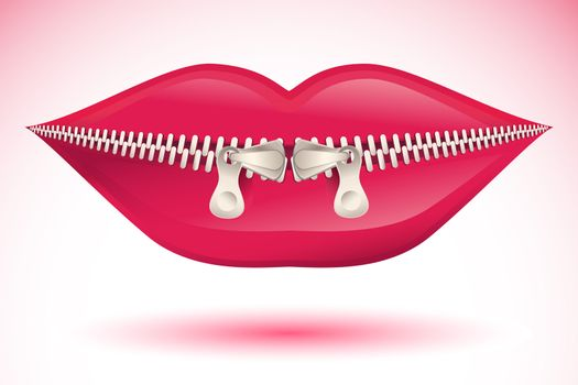 illustration of abstract lips on white background