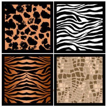illustration of animal skin texture