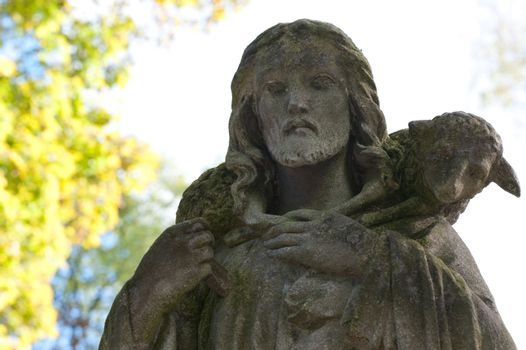 Monument to Jesus. Since its creation in 1787 Lychakiv Cemetery Lvov, Ukraine