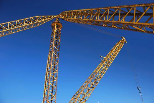 Jib of yellow crane