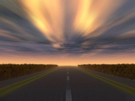 night speed highway